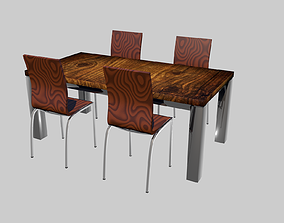 wooden Wood table 3D model