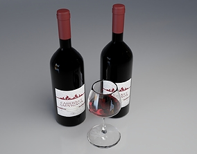 Wine Bottle 3D model PBR