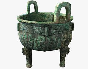 Chinese Bronze Tripod 3D model