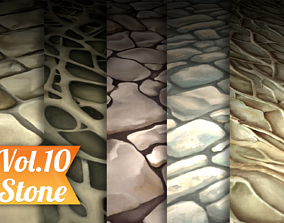 Stylized Stone Vol 10 - Hand Painted Texture 3D asset