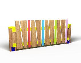 Playground decorative fence 3D