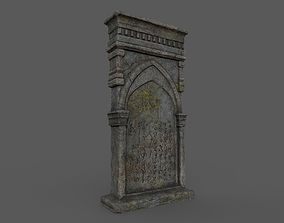 3D asset game-ready Tombstones Bloodborne Style