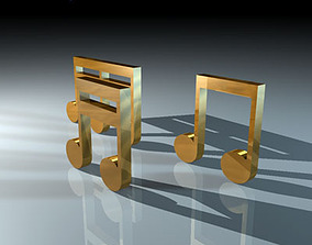 3D model Musical notes