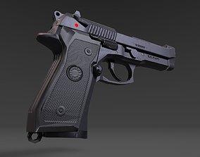 Beretta M9 3D asset low-poly