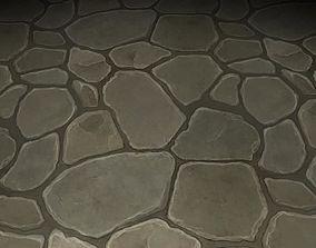 ground stone tile 06 3D