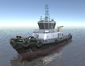 Harbor ASD tug low-poly 3d model low-poly