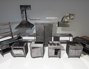 Restaurant Kitchen Set 3D model