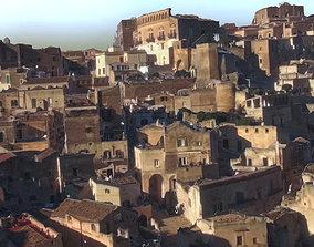 3D asset Italy Matera houses