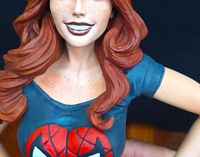 3D Mary Jane Watson Statue Model Spider-Man Sculpture