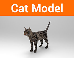 VR / AR ready 3D Pet Cat Model