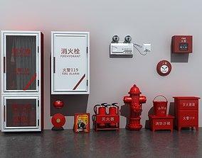 Fire Equipment Set 3D