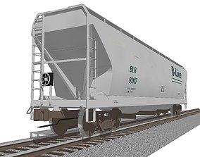 3D model Railroad Train Car - Grain Hopper