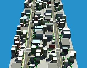 Low Poly City Model 3D low-poly