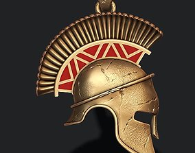 Spartan helmet pendant necklaces 3D printable model