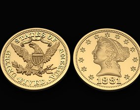 3D print model Liberty Double Eagle Gold Coin