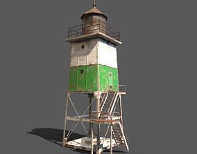 3D asset Old Metal Lighthouse