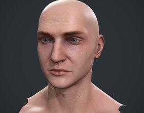 3D model game-ready Male Head