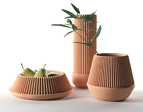 3D model Pleated Planters