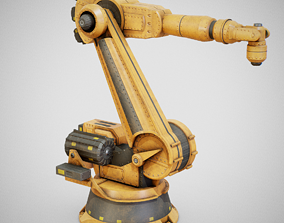 3D model Industrial Robot Arm - Generic 01 Dirty