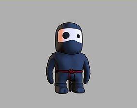 Cartoon Ninja - Not Rigged 3D model