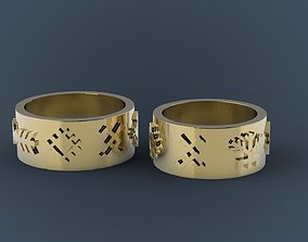 Latvian wedding rings 3D printable model