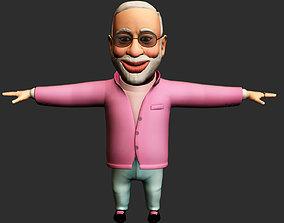 Narendra Modi 3d Character VR / AR ready