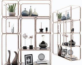 Shelf 3D model bookstore