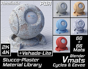 3D asset VMATS Stucco-Plaster Material Library for 2