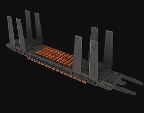 3D asset Eta-class supply barge Spaceship