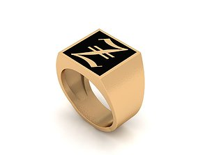 Old English Letter Ring Z 3D print model seal