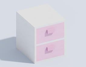 3D model Voxel Bedside Table T1