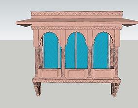 indian jodhpuri stone jharokha 3d modal rigged