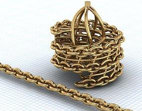 grating chain bracelets 3D printable model
