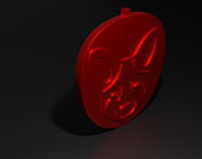 Fox Head Pendant 3D printable model