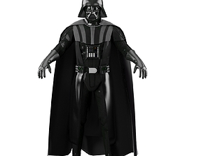Darth Vader 3D model animated