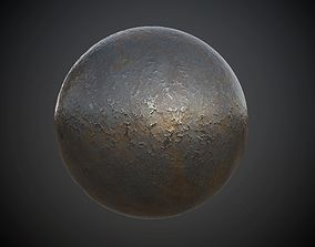 3D model Metal Old Rusted Seamless PBR Texture