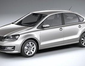 3D model Volkswagen Polo Sedan 2017