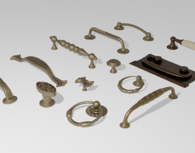 Furniture Handles Pack 3D