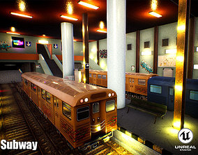 3D model Subway Unreal Engine