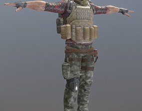 3D model Rigged Mercenary A