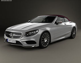 3D model Mercedes-Benz S-class AMG Line cabriolet