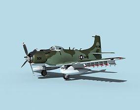 3D model Douglas A-1H Skyraider USN Kitty Hawk