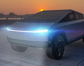 VR / AR ready Tesla Cybertruck 3dmodel