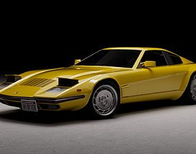80s - 70s sports car 3D model