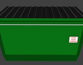 Simple Low-Poly Dumpster 3D model