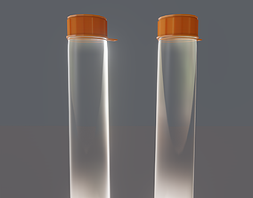 container 3D Simple Water Bottle