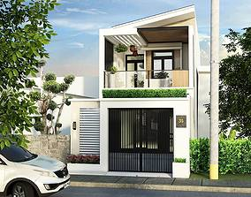 animated interior House design 3d model