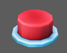 Button 3D asset animated