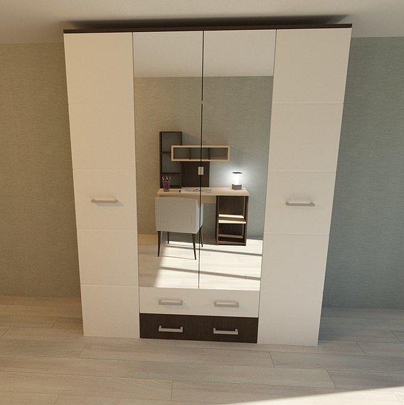 Modern cupboard in interior