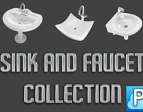 Sinks and faucets collection 3D